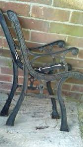 wrought iron bench ends pair of wrought iron bench ends vintage ebay