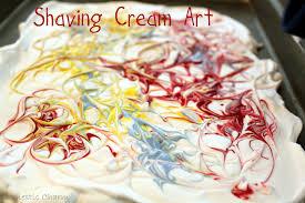 domestic charm shaving cream art