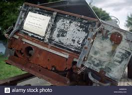 land rover one view onto the tailgate of the very first 1948 production land