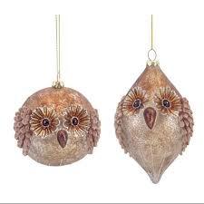 glass owl ornaments german gl acorn ornament europeanmarket 10