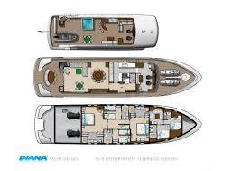 Luxury Yacht Floor Plans 28m Motor Yacht Diana Blu Flybridge Deck Layout U2014 Luxury Yacht