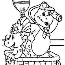 baby bop bj standing bridge barney coloring pages