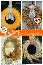 Make Your Own Home Decor 15 Fabulous Fall Wreaths Sparkles Of Sunshine