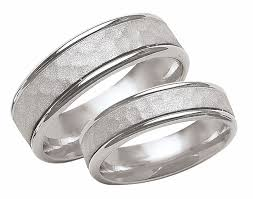 his and hers white gold wedding rings product detail