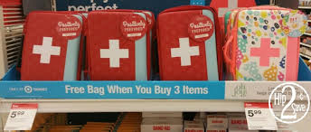 target free aid bag 5 99 value with purchase of 3