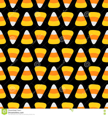 seamless halloween background candy corn food line happy halloween seamless pattern flat