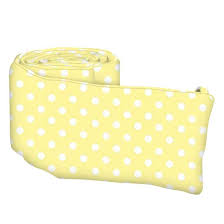 pastel yellow polka dots woven portable mini crib sheets