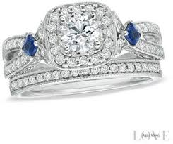 Vera Wang Wedding Rings by Vera Wang Love Collection 1 1 4 Ct T W Diamond And Sapphire