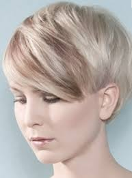 highlights in very short hair very short hairstyle with long bangs with highlights ice blond and