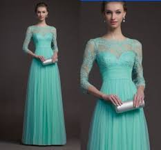 mint lace bridesmaid dresses empire bateau mint green tulle lace applique sleeves prom evening