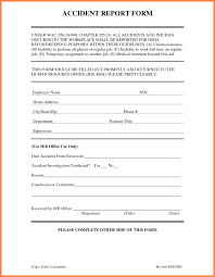 generic incident report template incidenteport form template free nz workcover forms for