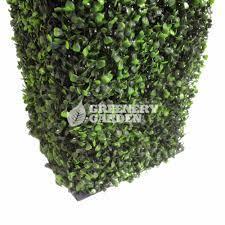 outdoor artificial topiary boxwood hedge pillar u2013 greenery garden
