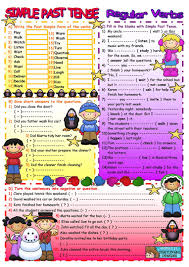 past simple regular verbs worksheet free esl printable