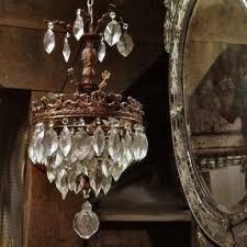 Vintage Crystal Chandeliers Antique Mini Chandelier Foter