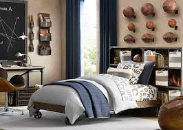 appealing sports themed boy bedroom decorating idea for teen