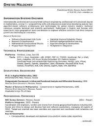 Resume Summary Examples For Software Developer by Download Control Systems Engineer Sample Resume