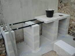 construire cuisine d été cuisine d ete en beton cellulaire construction d un barbecue sur