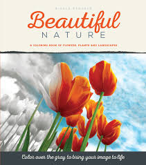 beautiful nature grayscale coloring book flowers