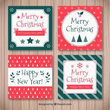 retro christmas cards pack of four retro christmas cards vector free
