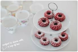 mini red velvet bundt cakes made from scratch