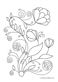 spring flowers printable coloring pages eson me