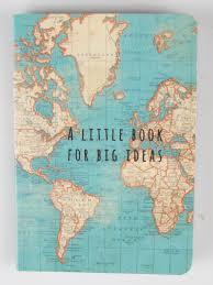 Vintage Map Blå Gungan Webshop Design U0026 Crafts Vintage Map Notebook