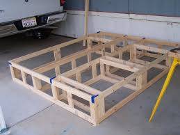 diy queen size platform bed with storage do it your self