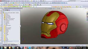 123d make u2013 iron man helmet idintern