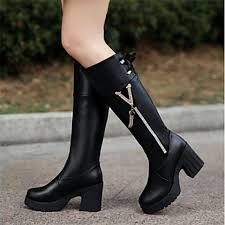 womens knee high boots nz s shoes nz fashion boots chunky heel knee high boots more