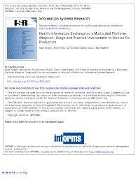 bureaux des hypoth ues health information exchange as a pdf available