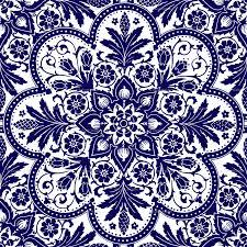 Blue And White Wallpaper by Bourgogne Tile Admiral Blue And White Wallpaper
