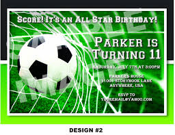 Invitation Card 7th Birthday Boy Soccer Themed Birthday Party Invitations Home Party Ideas