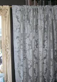 Antique Lace Curtains Antique Lace Curtains Grey Chateaux Antique Style Damask