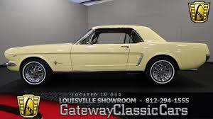 1965 yellow mustang 1965 ford mustang louisville showroom stock 1205