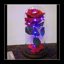 Forever Rose In Glass Dome Enchanted Rose Beauty And The Beast Led Rose Dome Glass Bell Prop