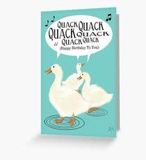 duck song greeting cards redbubble