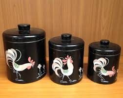 painted canister set etsy