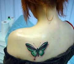 unique key butterfly on s shoulder