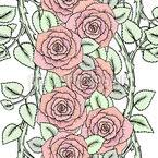 sketched roses repeating pattern