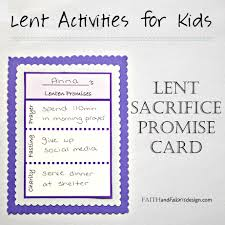 activity lent promise card for families free printable u2013 faith