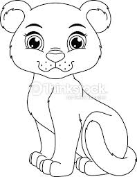 panther coloring vector art thinkstock