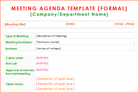 7 formal meeting bookletemplate org