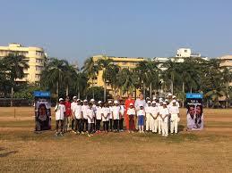 Cricket Flags Indien Königliches Cricket Training In Mumbai