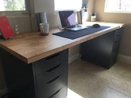 Diy File Cabinet Desk by My Desk Set Up Home Office Pinterest Desks Apartments And