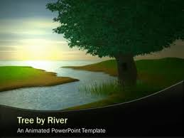 tree by river a powerpoint template from presentermedia com