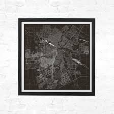 Winnipeg Map Winnipeg Map Print Modern Manitoba Canada Map Poster