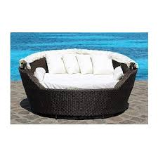 resin wicker canopy daybed modern patio furniture sogno umuace