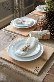 Table Setting Chargers - diy wood chargers shanty 2 chic