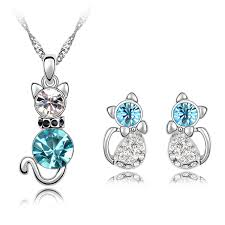 cat jewelry necklace images Romantic engagement gold plated cute cat jewelry php