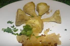 cuisine artichaut cuisson recette de artichaut poivrade à la grecque facile et rapide